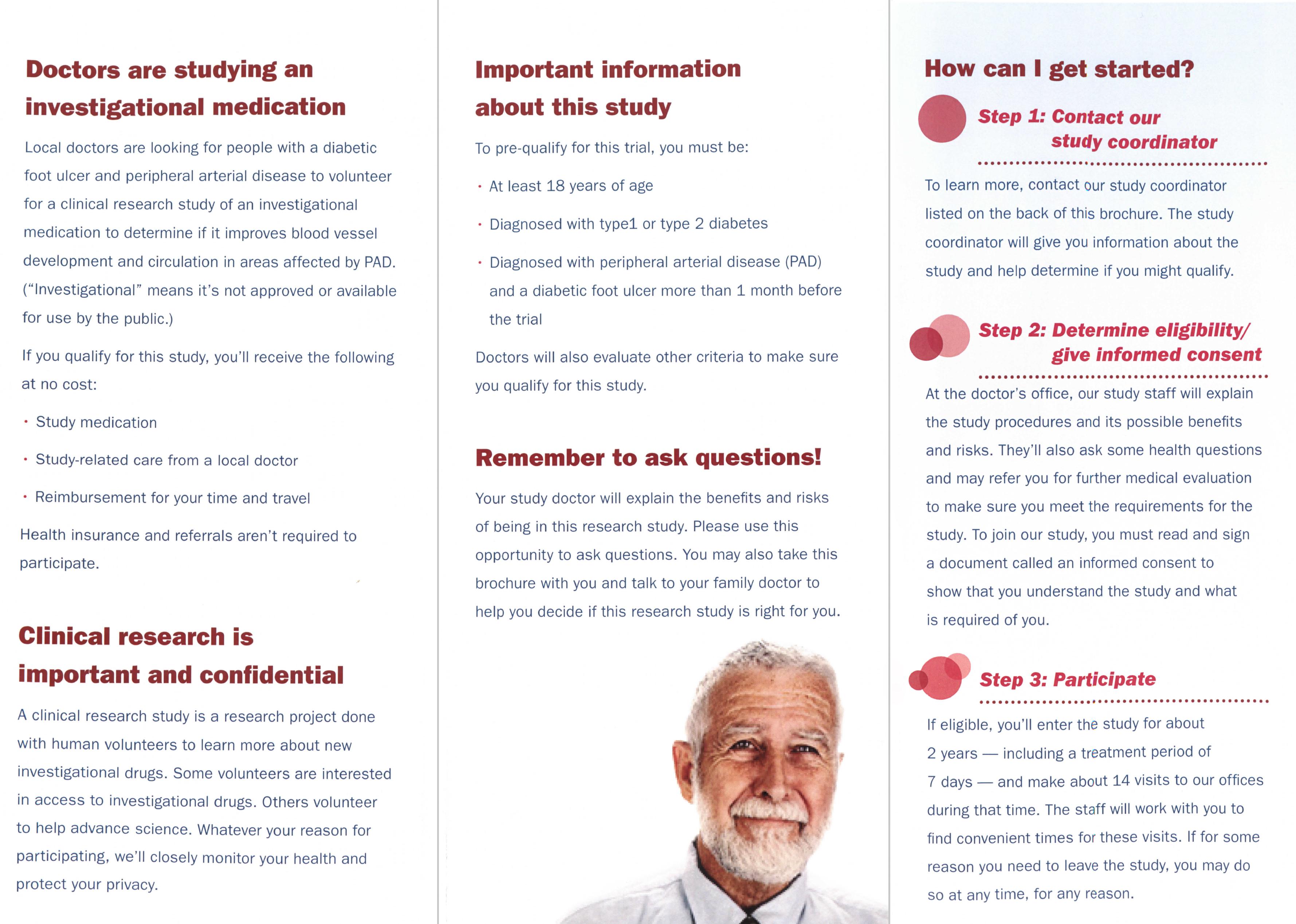 diabetic ulcer research brochure inside in belleville illinois