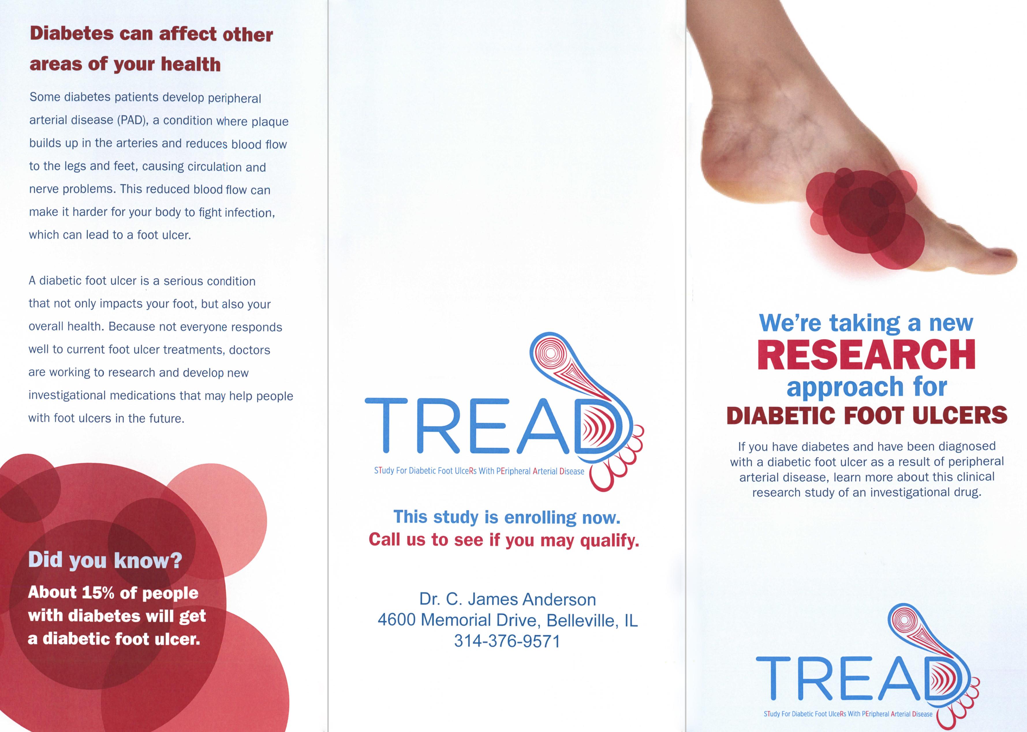 diabetic ulcer research brochure outside in belleville il